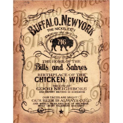 Buffalo NY Label Poster