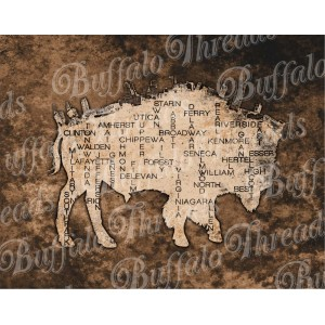 Buffalo NY on a Buffalo Poster