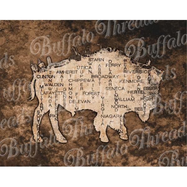 Buffalo NY on a Buffalo Poster